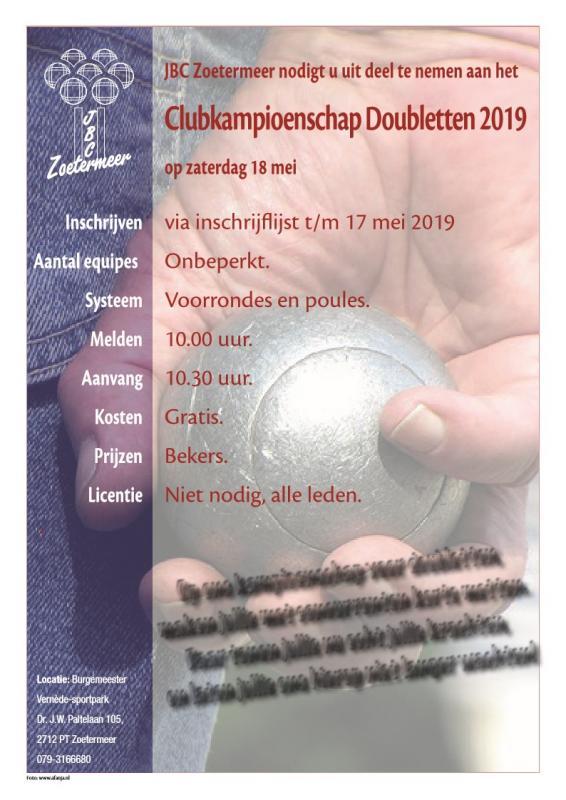 CK Doubletten Toernooi 2019
