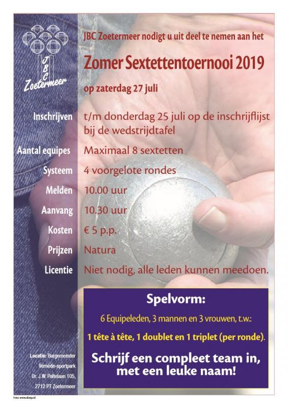 Zomersextettentoernooi 2019